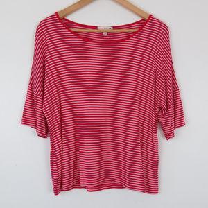 Zenana   Red White Stripe Knit Blouse
